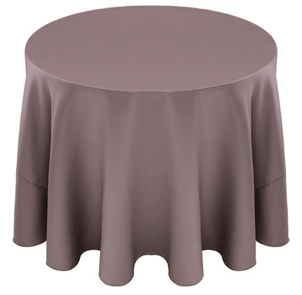 Matte Satin Tablecloth Linen-Heather Gray