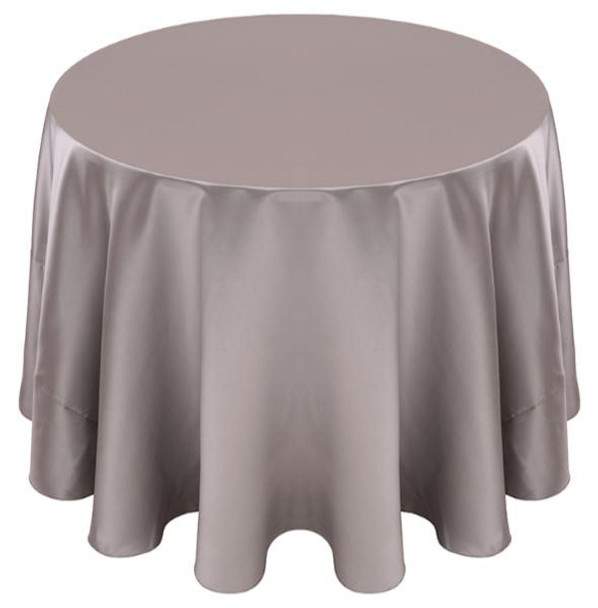 Matte Satin Tablecloth Linen-Silver