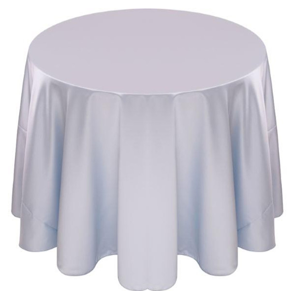 Matte Satin Tablecloth Linen-Powder Blue