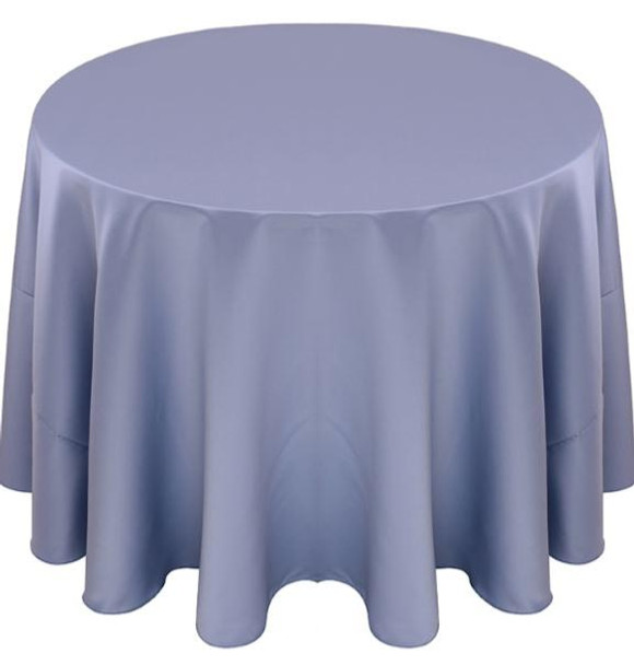 Matte Satin Tablecloth Linen-Rivera Blue