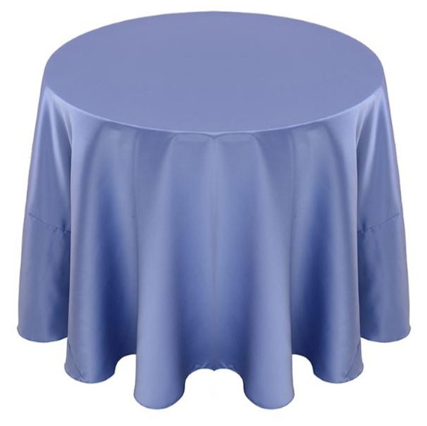 Matte Satin Tablecloth Linen-Periwinkle