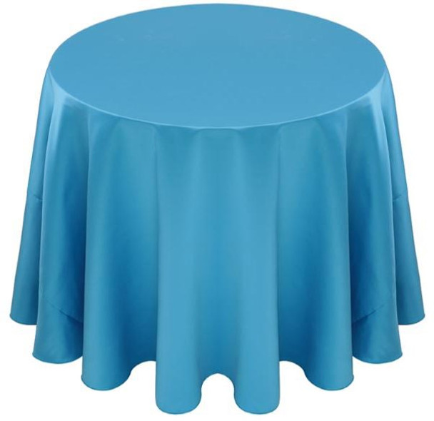 Matte Satin Tablecloth Linen-Turquoise