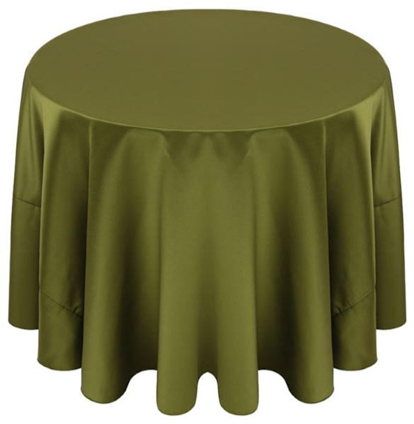 Matte Satin Tablecloth Linen-Olive