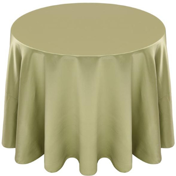 Matte Satin Tablecloth Linen-Kiwi
