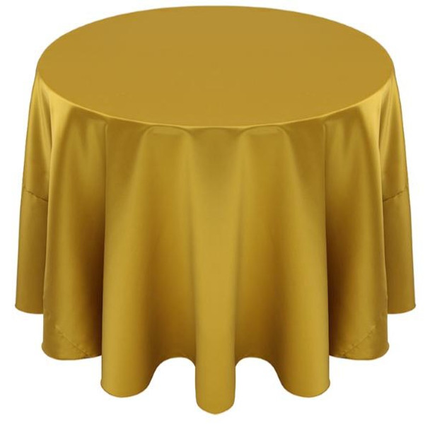 Matte Satin Tablecloth Linen-Citron