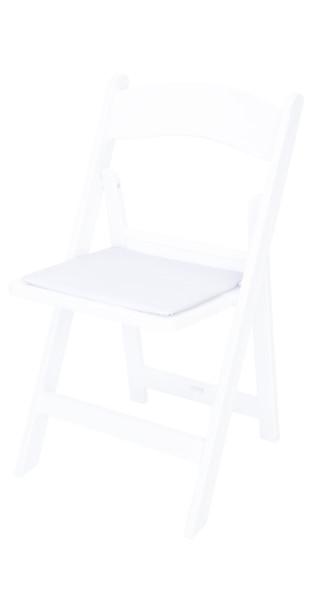 Resin Wedding Garden Style Vinyl Seat Cushion White