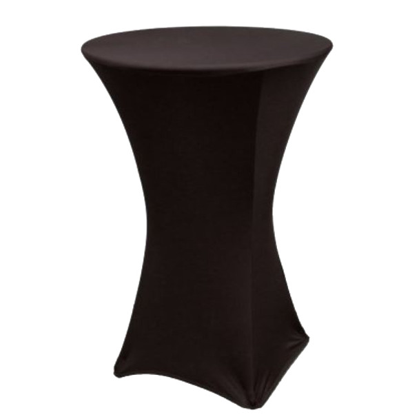 "Spandex Cocktail Table Linens for 30"" Round Top in 42""Height-Black"