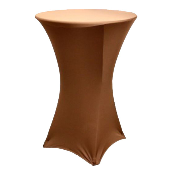 "Spandex Cocktail Table Linens for 30"" Round Top in 42""Height-Chocolate"