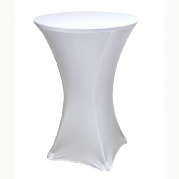 "Spandex Cocktail Table Linens for 30"" Round Top in 42""Height-White"