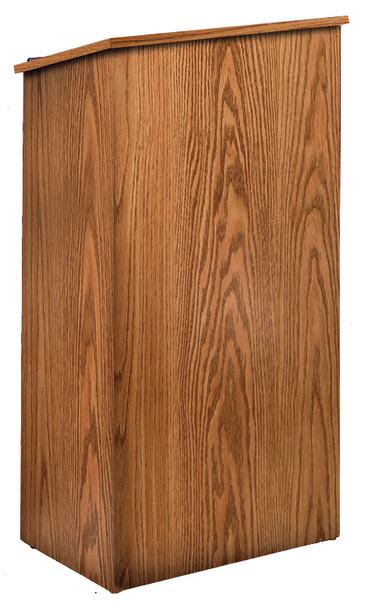 Full Floor Presentation Lectern (OKS-222) Medium Oak