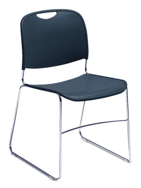 8500 Series High-Tech Ultra Compact Plastic Stacking Chair By National Public Seating-Navy Blue