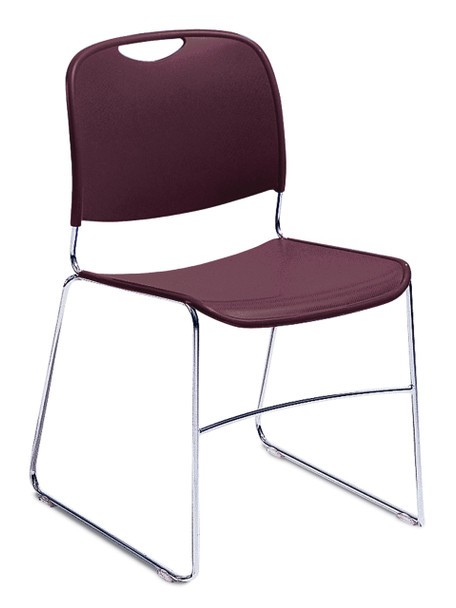 8500 Series High-Tech Ultra Compact Plastic Stacking Chair By National Public Seating-Wine