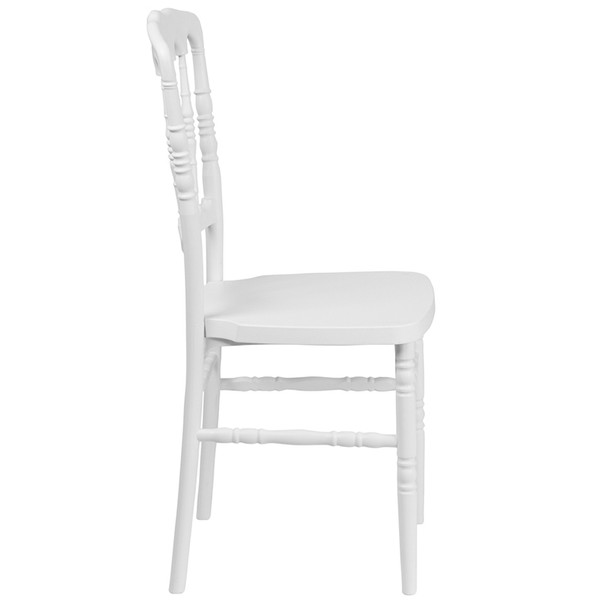 Napoleon Resin Stacking Chair-White