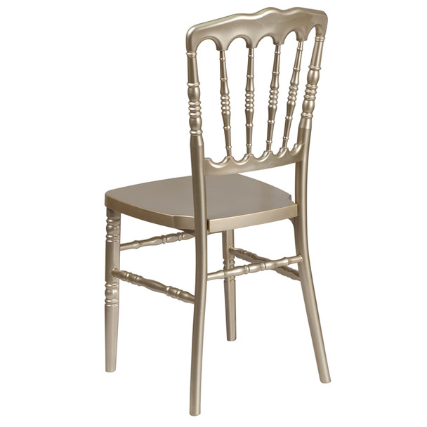 Napoleon Resin Stacking Chair-Gold