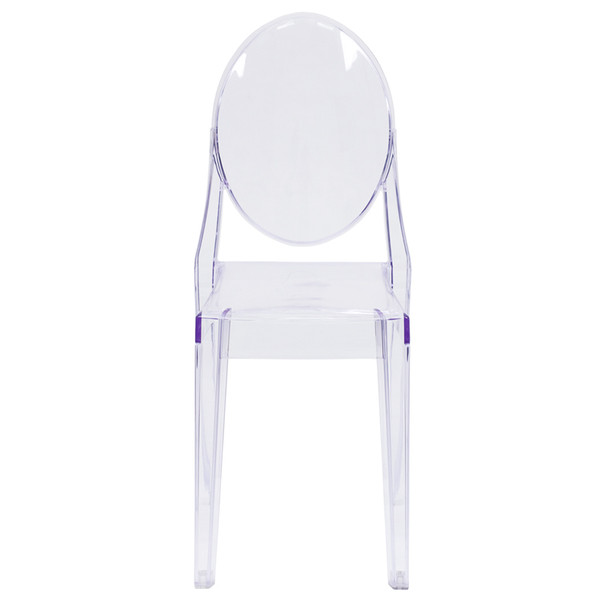 Louis XVI Transparent Crystal Ghost Side Chair