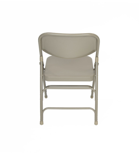 Classic Series Steel Folding Chair - Quad Hinged - Triple Cross Braced - 300lb Capacity-Beige