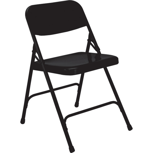 Body Builder Premium Steel Folding Chair By National Public Seating, 200 Series-Black