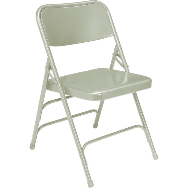 Body Builder Deluxe Steel Folding Chair By National Public Seating, 300 Series-Gray