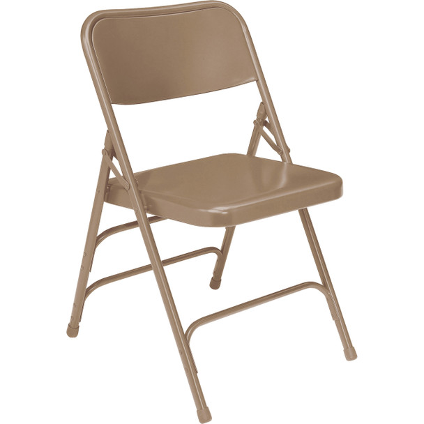 Body Builder Deluxe Steel Folding Chair By National Public Seating, 300 Series-Beige