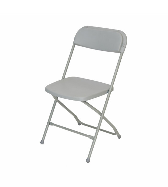 Plastic Folding Chair Premium Rental Style-Gray