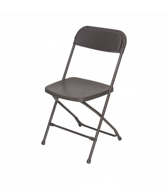 Plastic Folding Chair Premium Rental Style-Brown