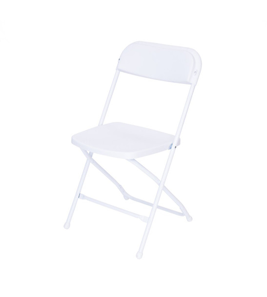 Plastic Folding Chair Premium Rental Style-White