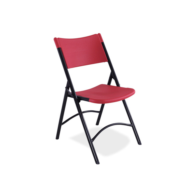 Body Builder Blow Molded Plastic Folding Chair By National Public Seating-Red