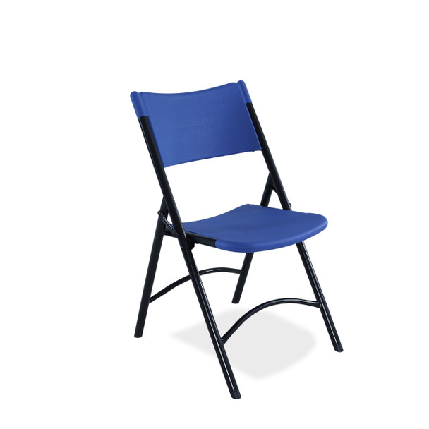 Body Builder Blow Molded Plastic Folding Chair By National Public Seating-Blue