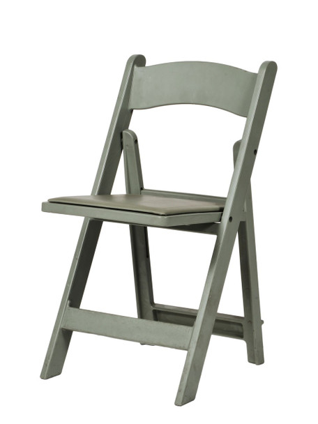 MAX Wedding and Event Resin Folding Chair-Flintgray