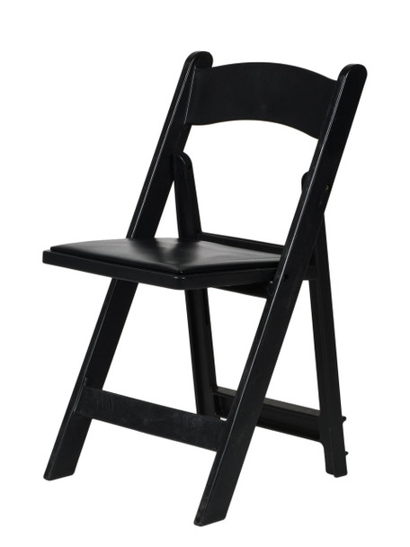 MAX Wedding and Event Resin Folding Chair-Black