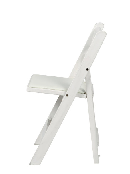 MAX Wedding and Event Resin Folding Chair-White