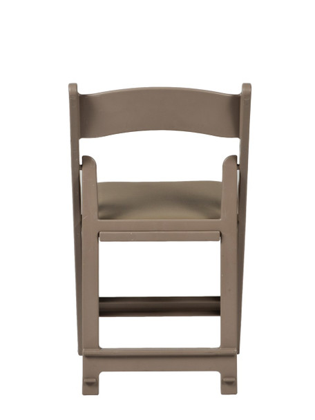 MAX Wedding and Event Resin Folding Chair-Sand Beige