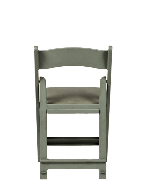 MAX Wedding and Event Resin Folding Chair-Flint Gray