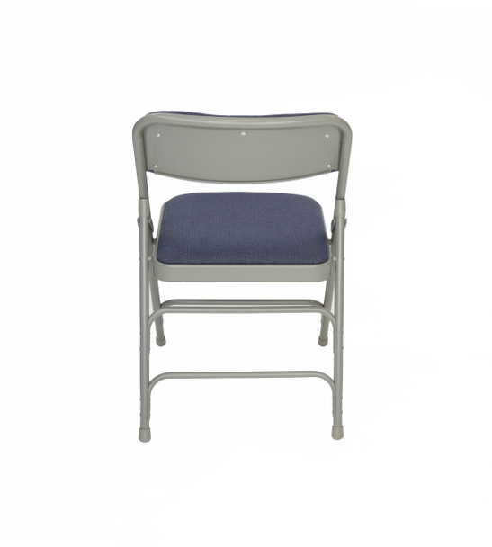 Rhino Fabric Padded Folding Chair - Quad Hinged - Triple Cross Braced