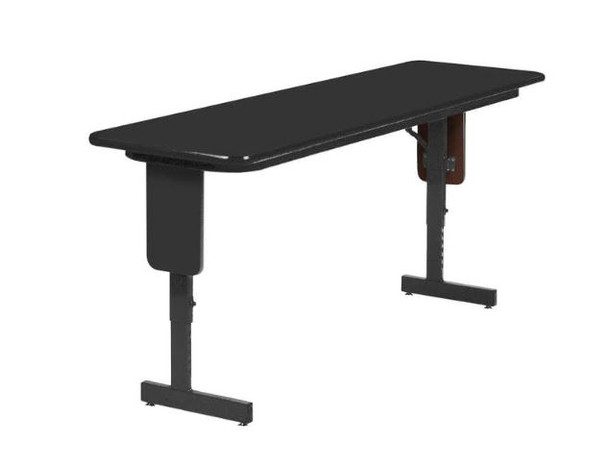 Correll Adjustable Height Panel Leg High-Pressure Laminate Seminar Training Folding Table
