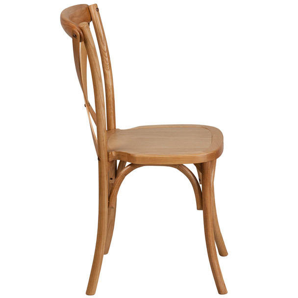 Admirable Hercules Series Wood Cross Back Chair 400Lb Capacity Optional Tie Back Cushion Gmtry Best Dining Table And Chair Ideas Images Gmtryco