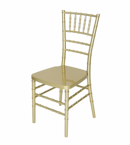 Classic Series Resin Chiavari Chairs with Steel Core - Gold