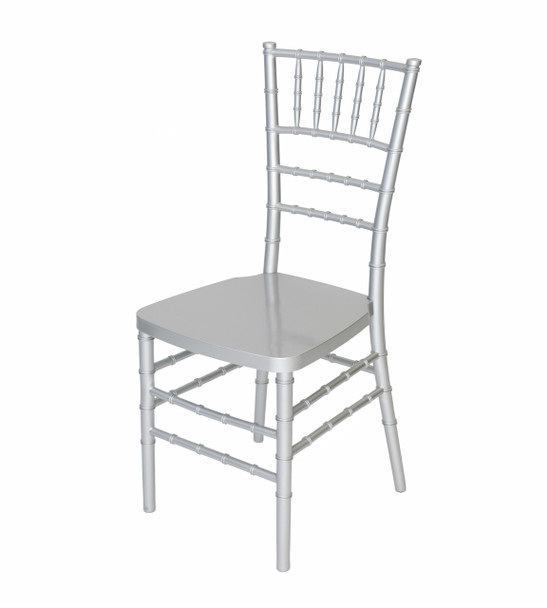 Classic Series Resin Chiavari Chairs with Steel Core - Silver