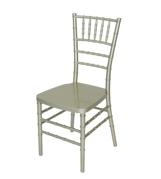 Rhino Resin Chiavari Chair with Steel Core - 100% Non-Recycled Virgin Resin, Resistant To Warping & Fading (Champagne)