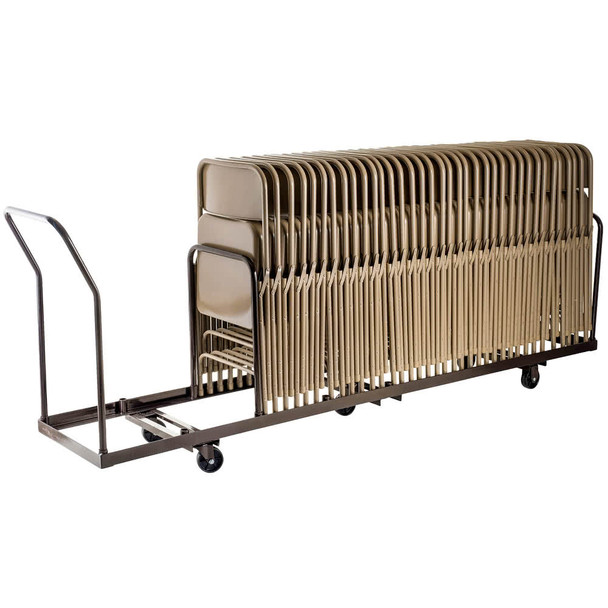 50-Capacity Linear Storage and Transport Folding Chair Dolly By National Public Seating, Model DY-50