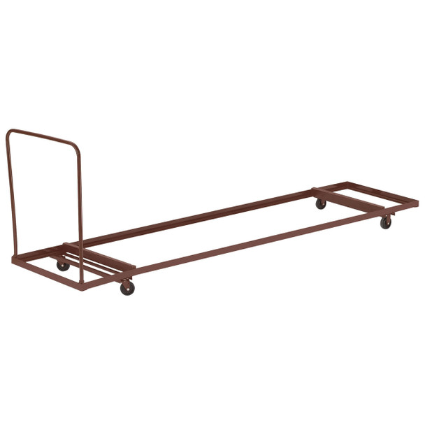 "12-Capacity Storage and Transport Dolly for up to 96"" Long Folding Tables By National Public Seating"