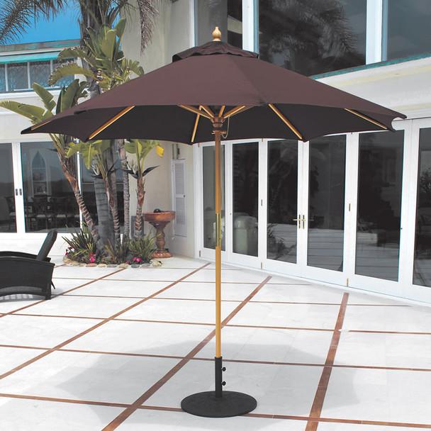 Galtech 9-ft. Wood Umbrella With Manual Lift, Model 131 (GA131)