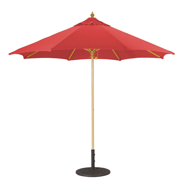 Galtech 9-ft. Wood Umbrella With Manual Lift, Model 136 (GA136)