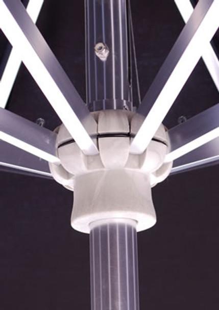 Galtech 7.5-ft. Aluminum Umbrella With Autotilt Crank Lift, Model 727 (GA727)