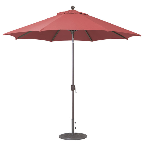 Galtech 9-ft. Aluminum Umbrella With Autotilt Crank Lift, Model 737 (GA737)