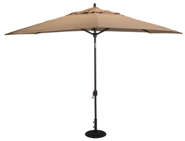 Galtech 8x11-ft. Oval Top Aluminum Umbrella With Autotilt Crank Lift, Model 779 (GA779)