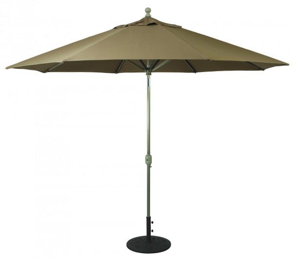Galtech 11-ft. Aluminum Umbrella With Autotilt Crank Lift, Model 789 (GA789)