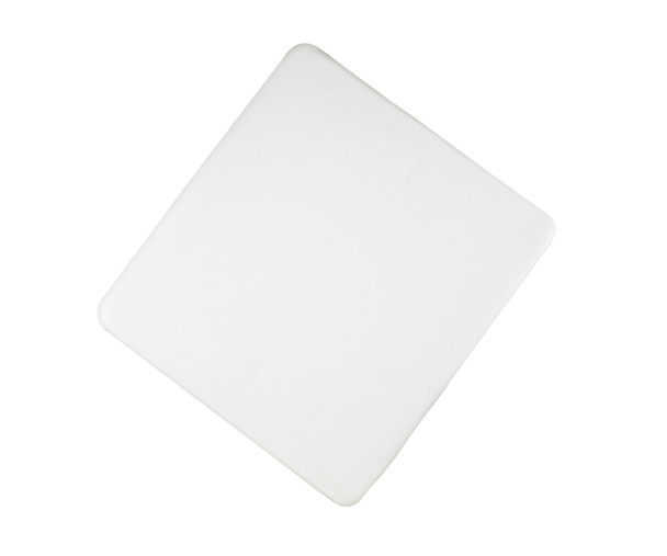 White vinyl padded replacement seat for wood folding chairs.