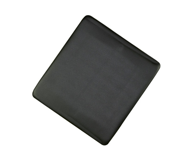 Black vinyl padded replacement seat for wood folding chairs.