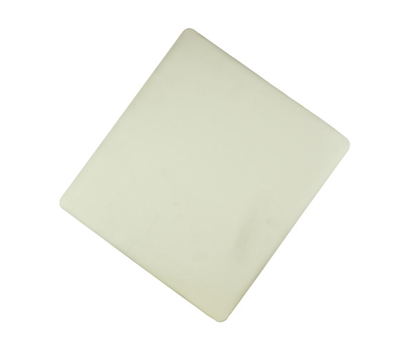 Ivory vinyl padded replacement seat for wood folding chairs.